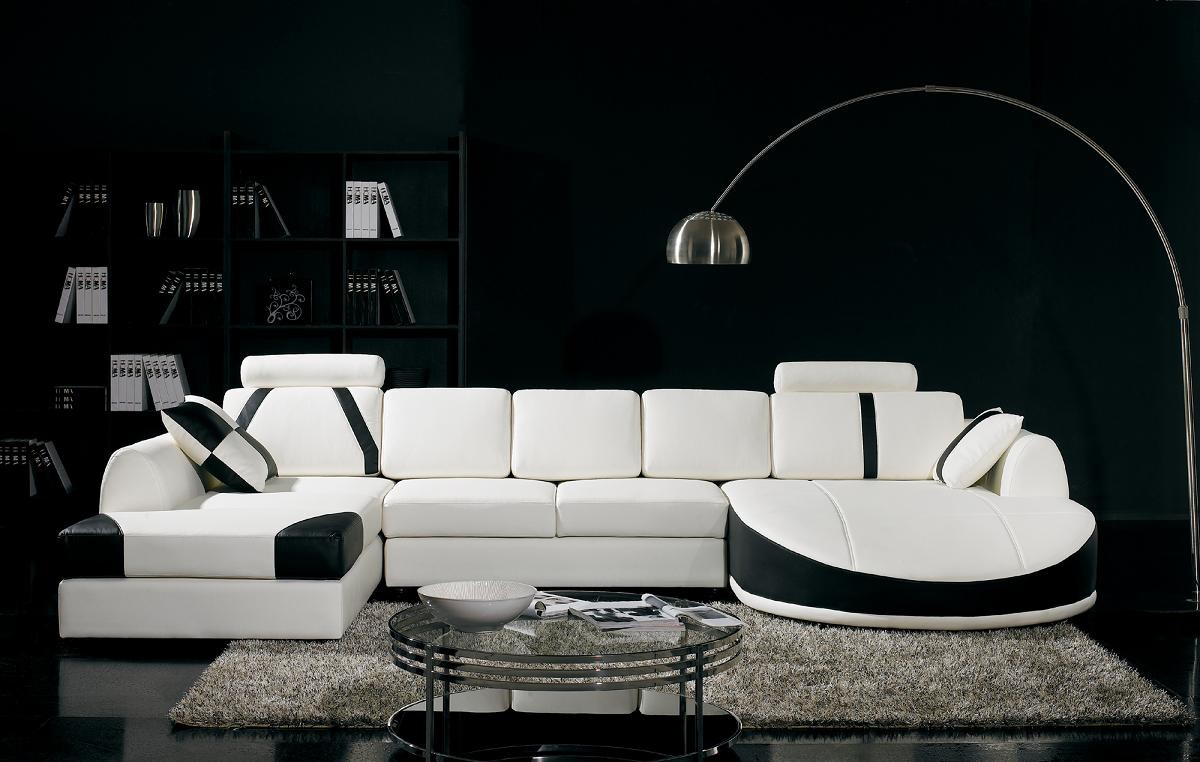 Divani Casa T57   Modern Leather Sectional Sofa ...