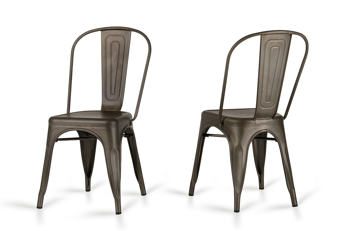 Elan   Modern Rust Metal Dining Chair (Set Of 2)