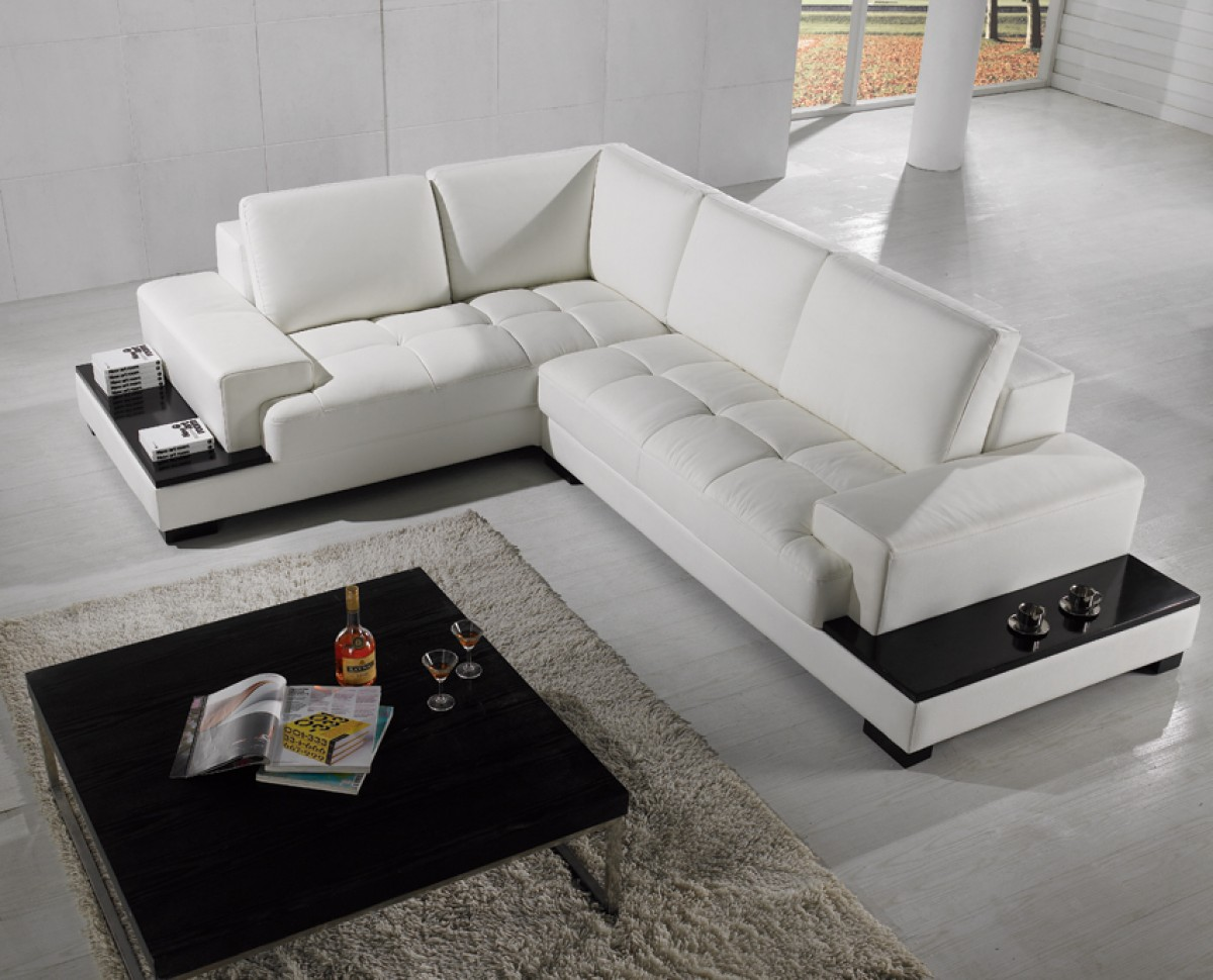 modern leather sectional couch. Plain Modern Divani Casa T71  Modern Leather Sectional Sofa  Intended Couch