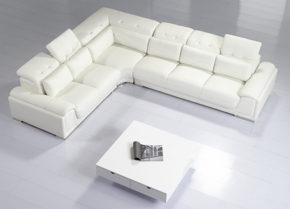 Divani casa t93c modern leather sectional sofa for Contemporary sectional sofas
