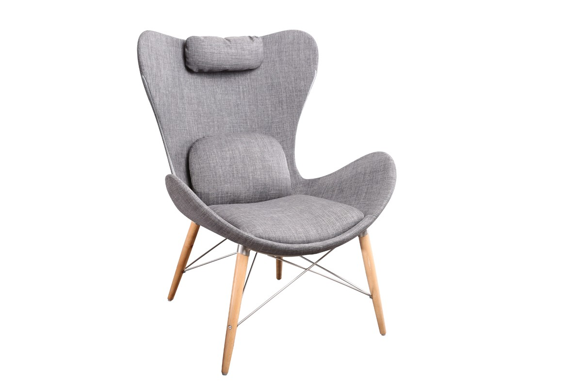 Modrest Britt Modern Grey Fabric Accent Chair