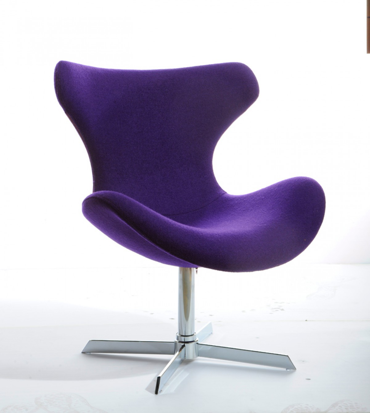 Modrest Aludra Modern Purple Fabric Lounge Chair