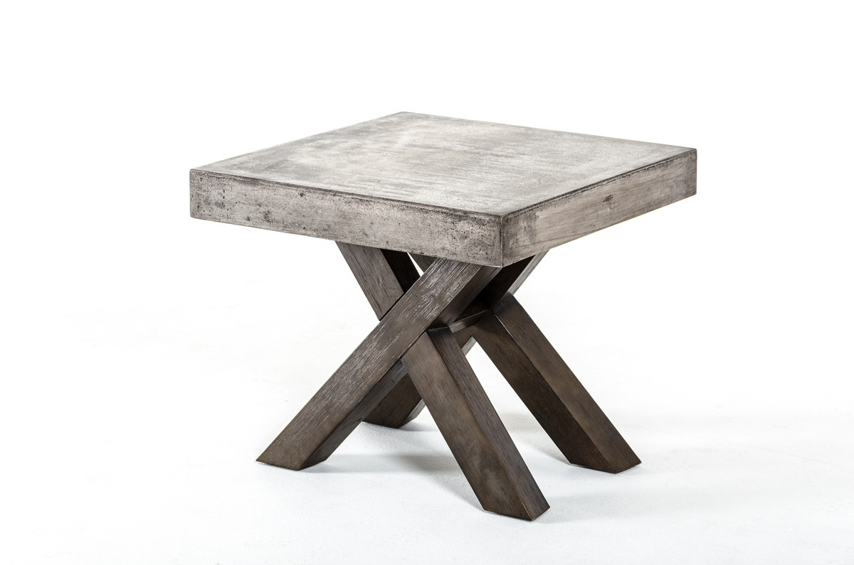 Modrest Urban Concrete Square End Table Tables