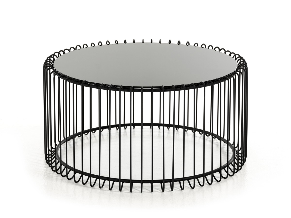 Modrest Beacon Contemporary Black Round Coffee Table