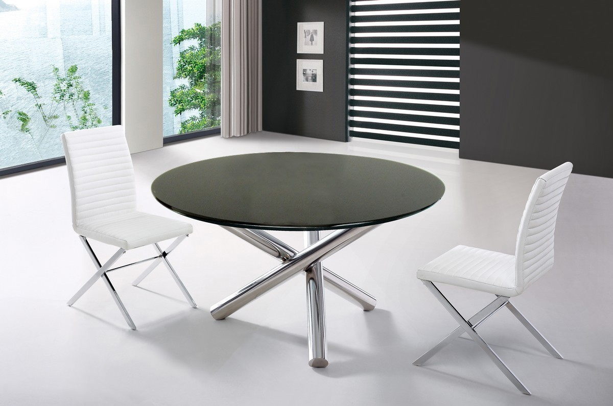 Modrest Frau Modern Round Dining Table