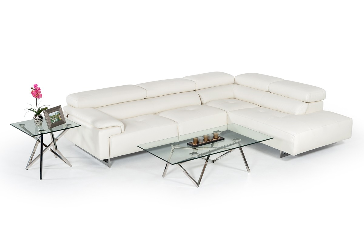 Fine Estro Salotti Wish Modern White Leather Sectional Sofa Pabps2019 Chair Design Images Pabps2019Com