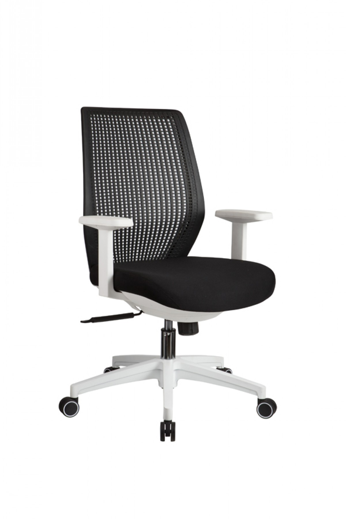 Modrest bayer modern black white office chair office for Modern white office chair