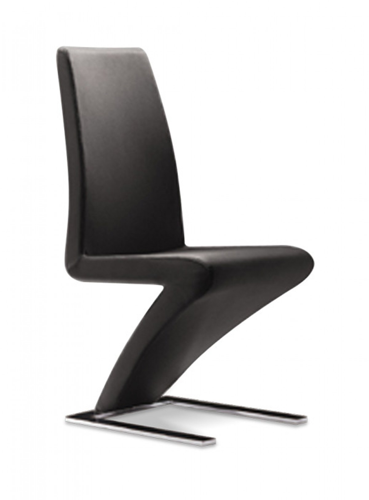 modrest zayd modern black dining chair  quick ship products - modrest zayd modern black dining chair