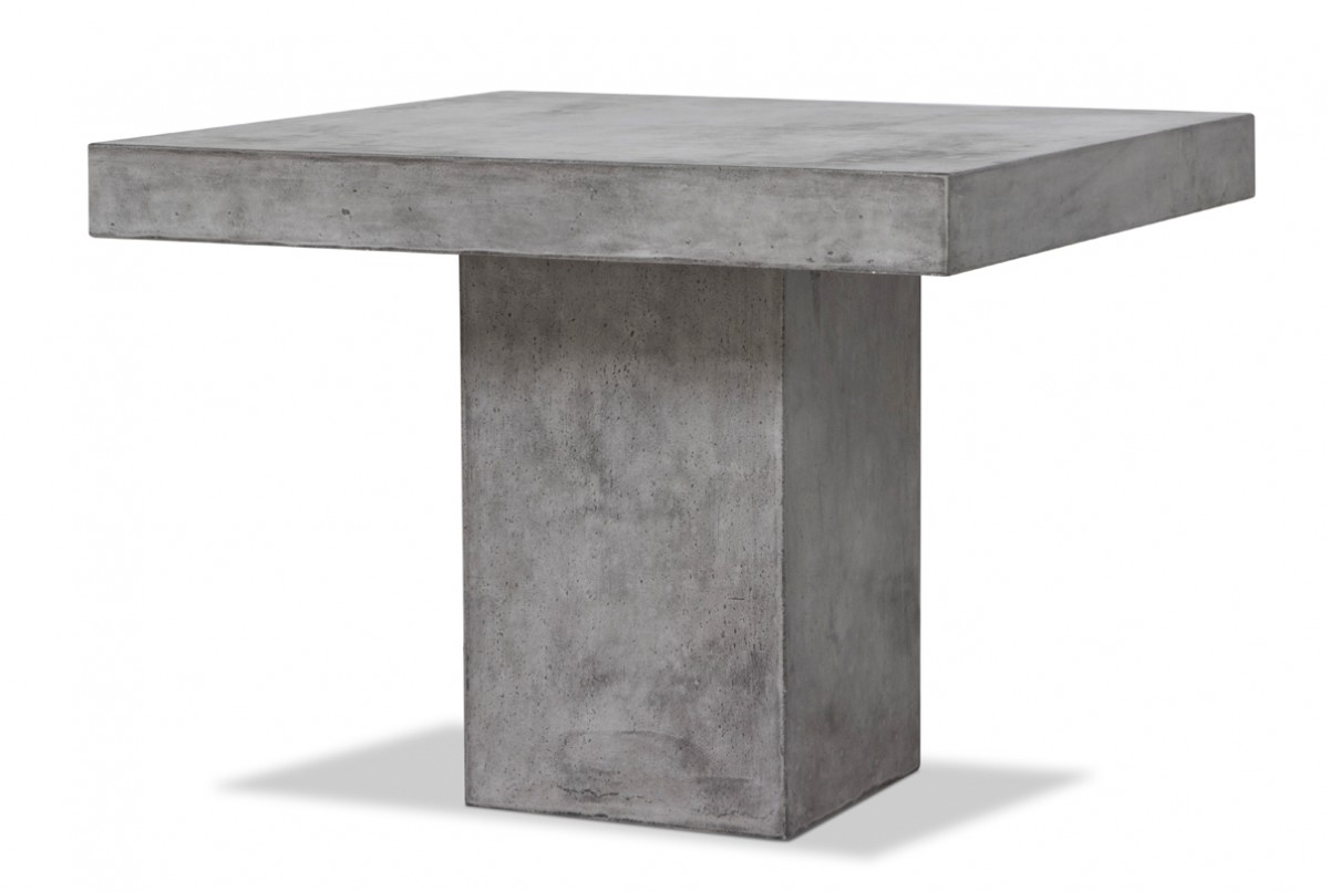 Modrest Yem Concrete Square Dining Table Modern Dining
