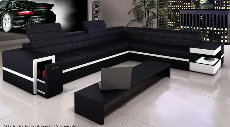 6106 Modern Bonded Leather Sectional Sofa