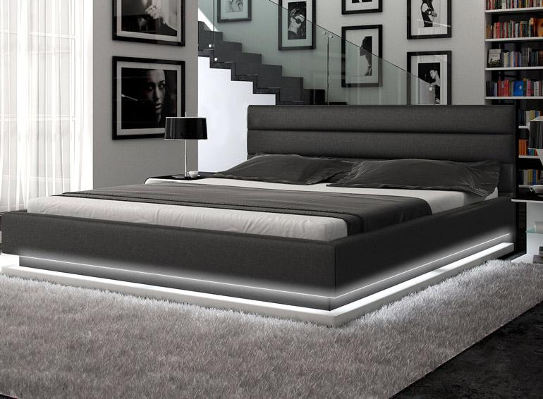 Infinity   Contemporary Platform Bed with Lights. Modern Furniture Sacramento   Modern furniture for your