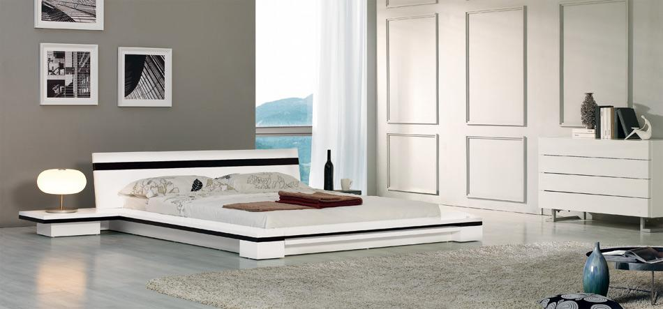Sonata   Platform Bed in White. Modern Furniture Sacramento   Modern furniture for your