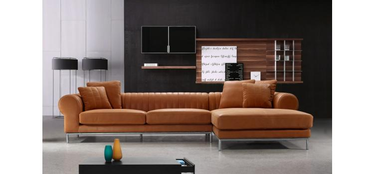 Modern Top Leather Sectional Sofa - 1004