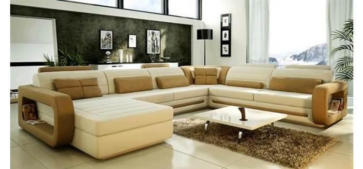 1005 - Modern Bonded Leather Sectional Sofa