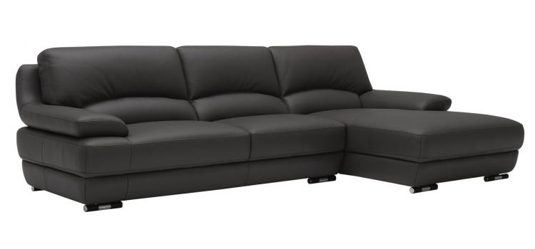 KK1182 Modern Black Sectional Sofa