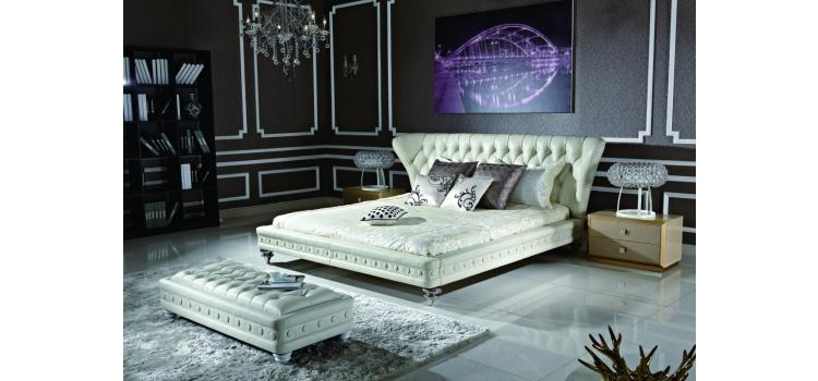 Transitional Eco-Leather Bed-1191