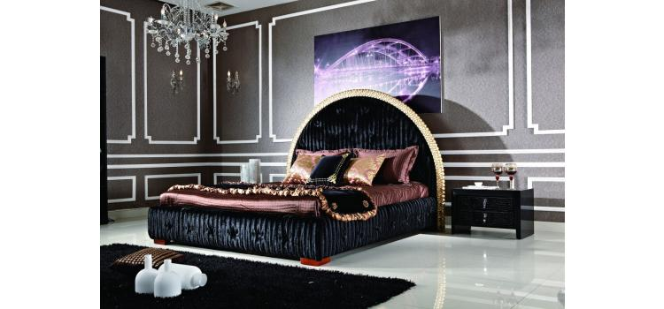 1193 - Transitional Eco-Leather Bed