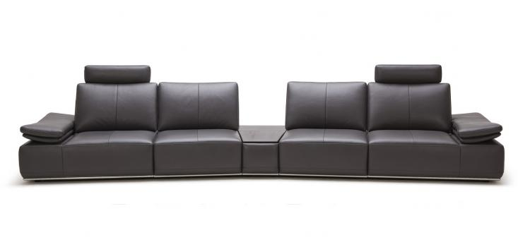 Large Modern Single Sofa with Reclining Backrests
