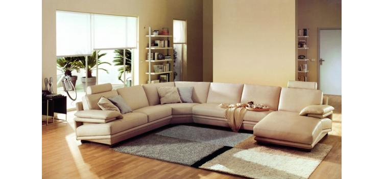 2612 - Modern Bonded Leather Sectional Sofa