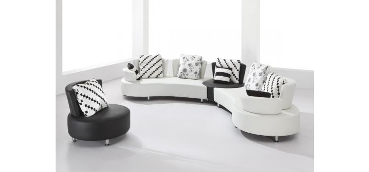 2803 - Sectional Sofa Set with a Round Chair