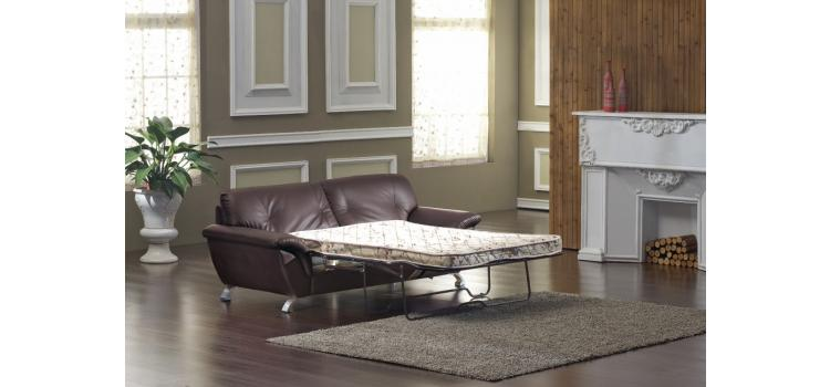 2820 Bonded Leather Sofa Set with Sofa Bed