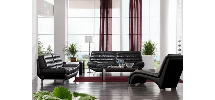2918 Modern Bonded Leather Sofa Set