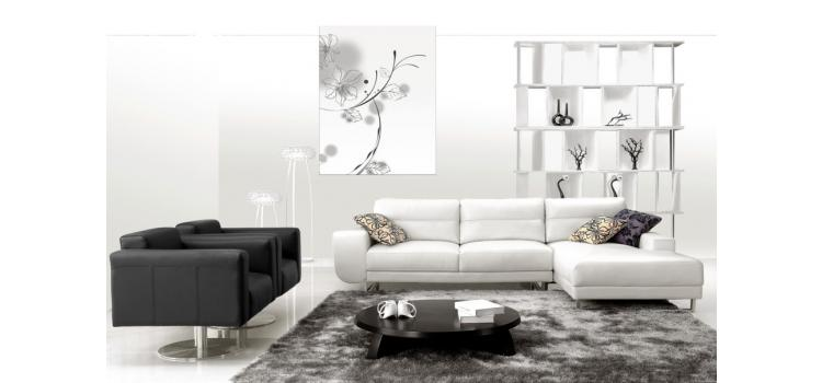 2919B - Modern Bonded Leather Sectional Sofa