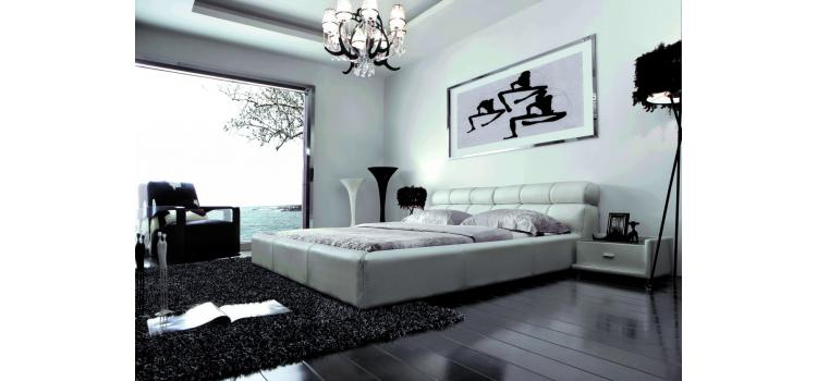 400 - Contemporary Eco-Leather Bed