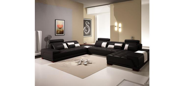 5005B - Modern Bonded Leather Sectional Sofa