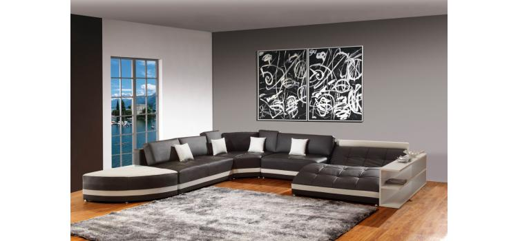 5012B - Modern Bonded Leather Sectional Sofa