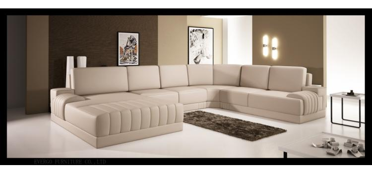 5025 - Modern Bonded Leather Sectional Sofa