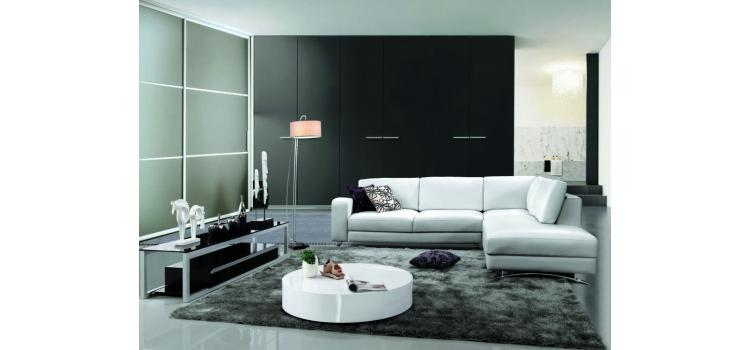 521 - Modern Bonded Leather Sectional Sofa
