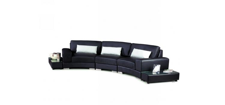 525 - Modern Bonded Leather Sectional Sofa