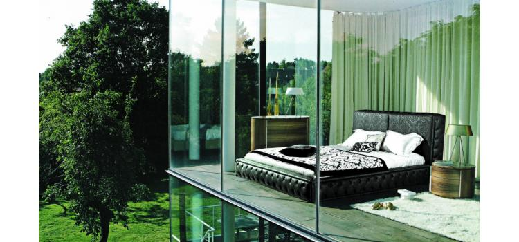 540 - Modern Eco-Leather Bed