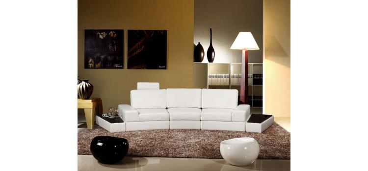 6004 - Modern Bonded Leather Sofa