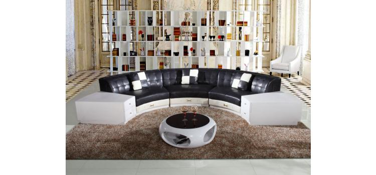 6007 - Modern Bonded Leather Sofa
