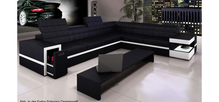 6106 - Modern Bonded Leather Sectional Sofa