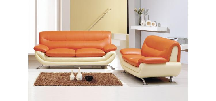 7045 - Modern Bonded Leather Sofa Set