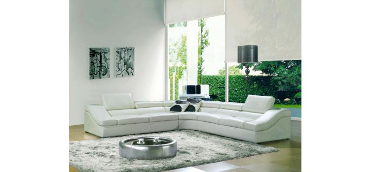 8002 - Modern Bonded Leather Sectional Sofa