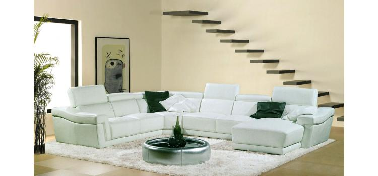 8009 - Modern Bonded Leather Sofa Set