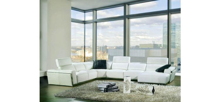8010B - Modern Bonded Leather Sectional Sofa