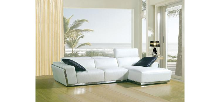 8010C - Modern Bonded Leather Sectional Sofa