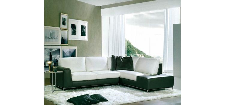 8014 - Modern Bonded Leather Sectional Sofa