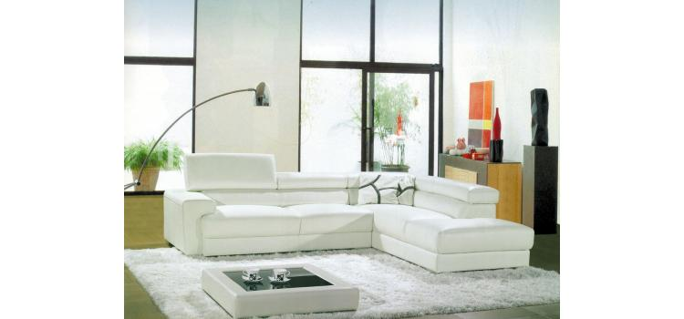 8016 - Modern Bonded Leather Sectional Sofa