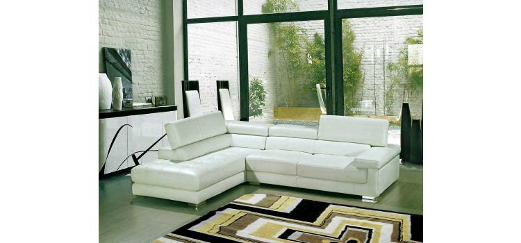8025 - Modern Bonded Leather Sectional Sofa
