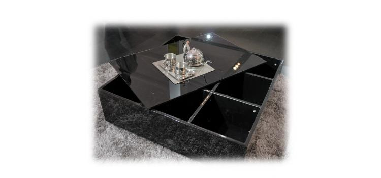 Modern Coffee Table with Storage - 857CT