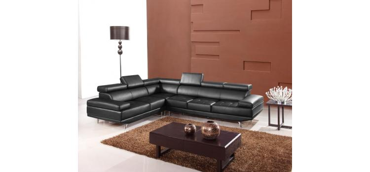 9054 - Modern Bonded Leather Sectional Sofa
