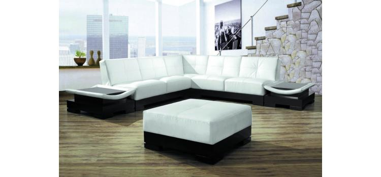 9969 - Modern Bonded Leather Sectional Sofa