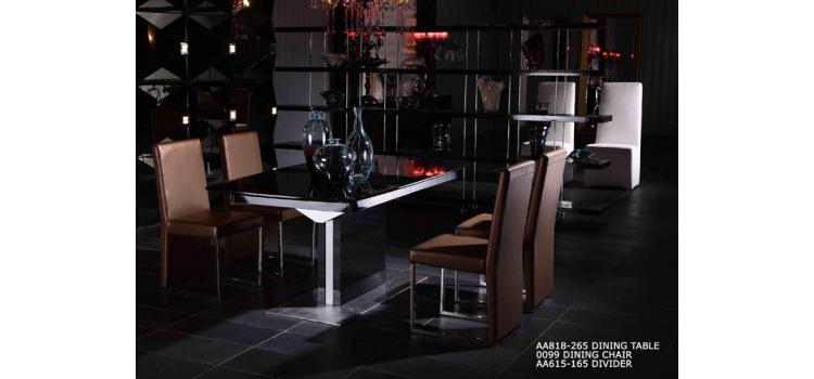 Armani 818 Black High Gloss Dining Table