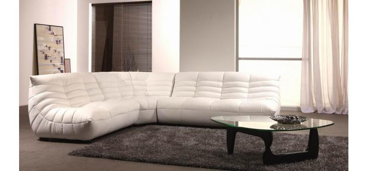 B 240B - Contemporary Leather Sectional Sofa